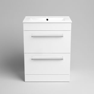 TB Two Drawer Square with Brushed Chrome Handles